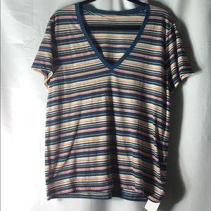 🆕 Madewell 100% Cotton Striped V-neck Tee